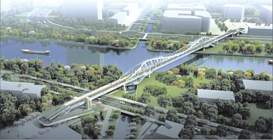 苏州大运河沧浪新城河段将新添一座景观步行桥 项目规划公示